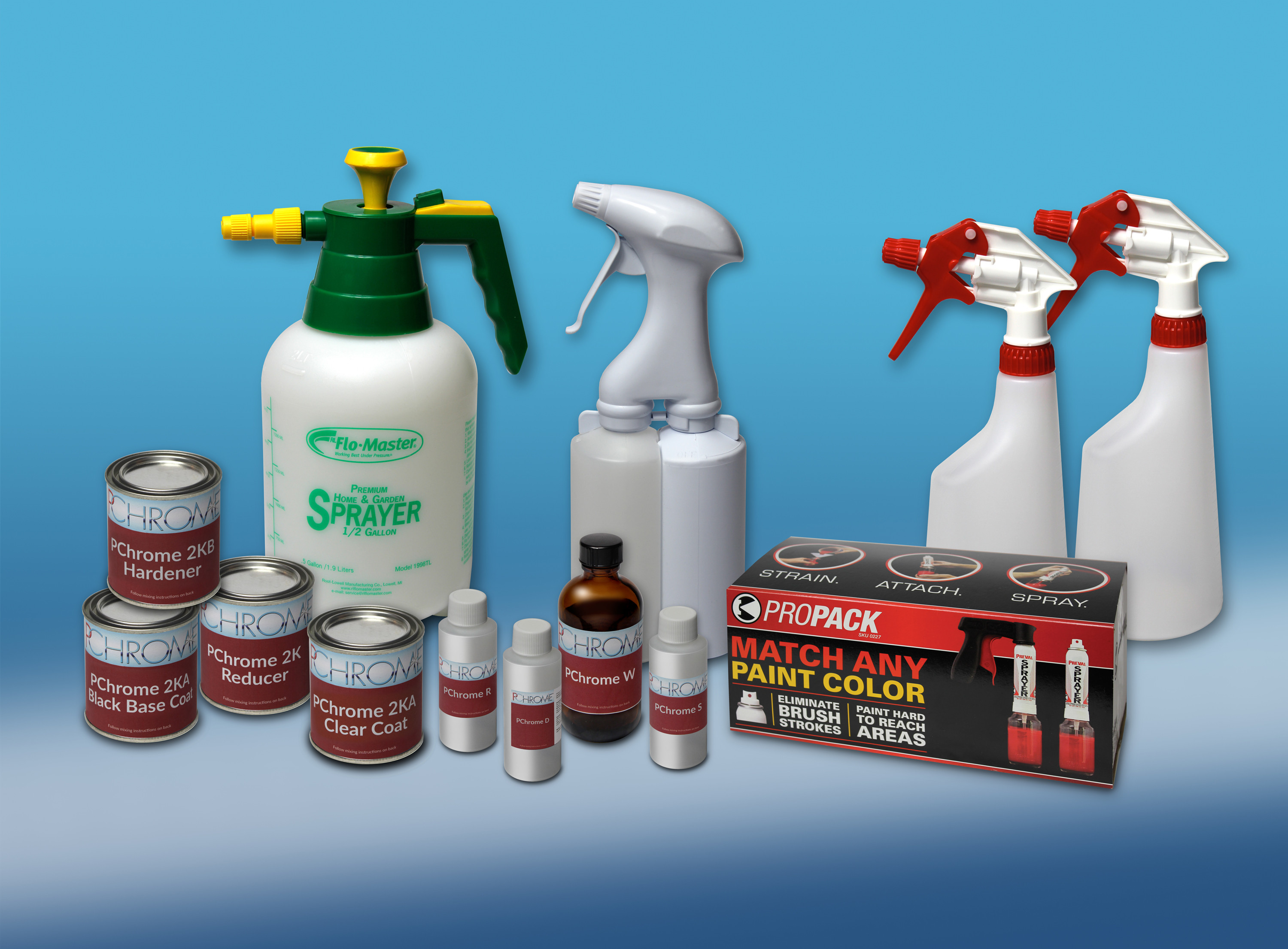 Starter Spray Chrome Kit