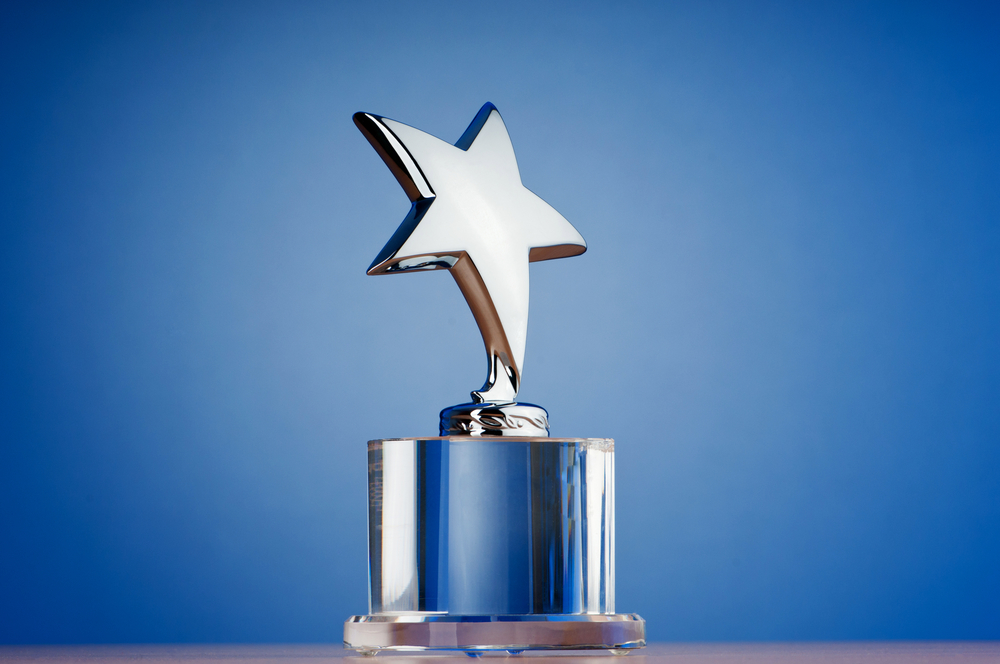 Spray-on chrome for corporate awards