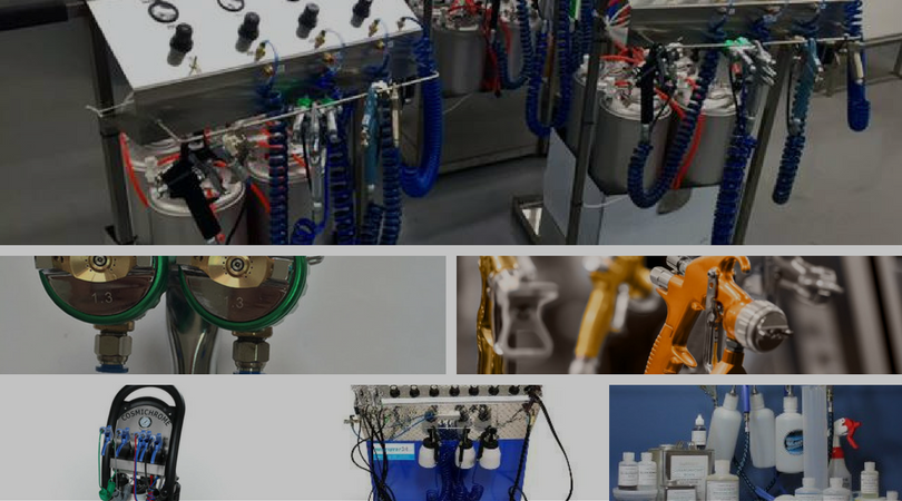 Spray chrome machines our solutions can be used with