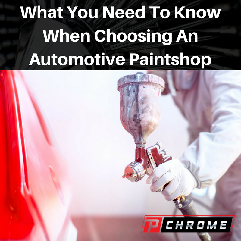 What You Need To Know When Choosing An Automotive Paintshop